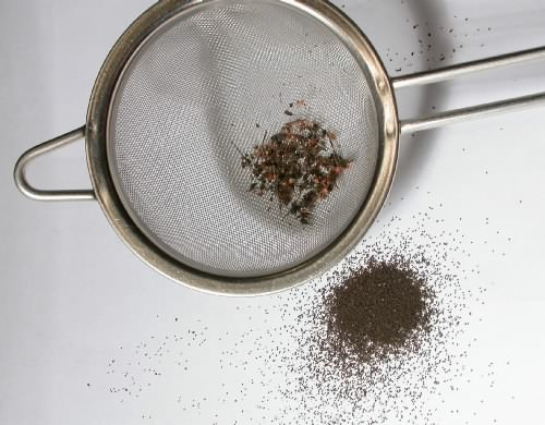 Cleaning seed with Sieve